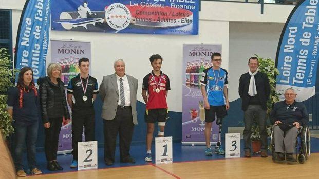Asptt toulouse handisport corentin darenes champion de - Federation francaise tennis de table ...