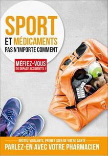 Affiche Sport et médicaments pas n'importe comment