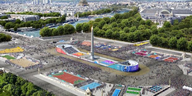 Place de la Concorde pour la Journée Olympique & Fête du Sport