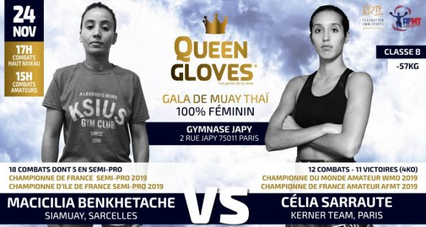Queen Gloves : M Benkhetache vs C Sarraute