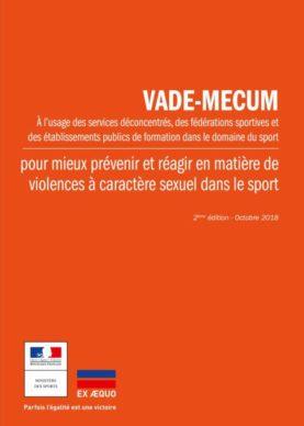 Vademecum pour mieux prévenir et réagir en matière de violences à caractère sexuel dans le sport