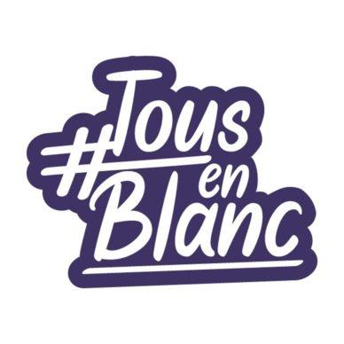 Logo #Tousenblanc